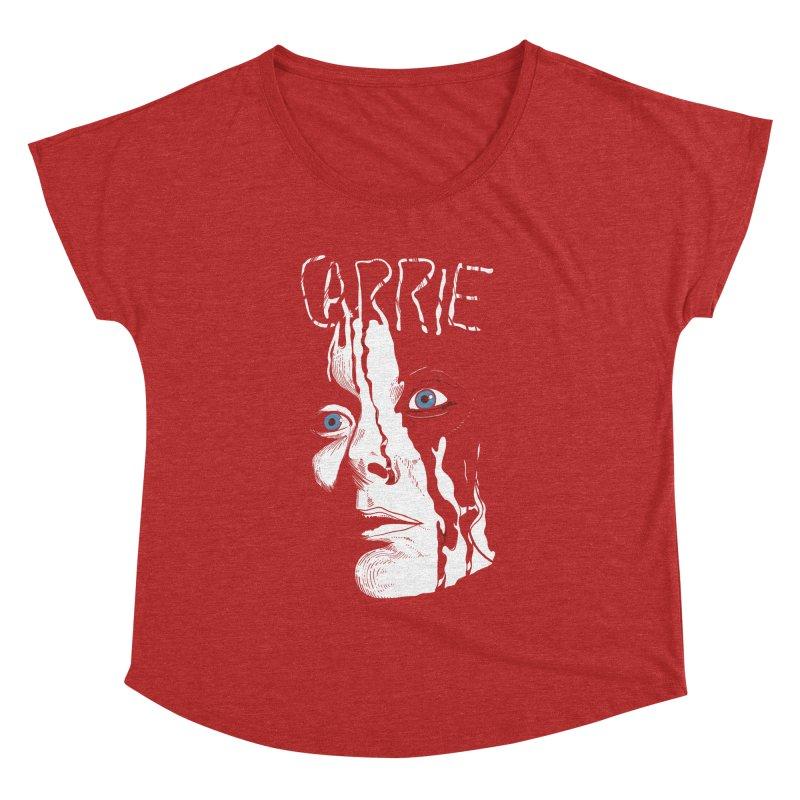 Carrie Women's Dolman Scoop Neck by quadrin's Artist Shop