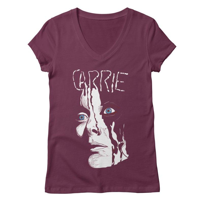 Carrie Women's Regular V-Neck by quadrin's Artist Shop