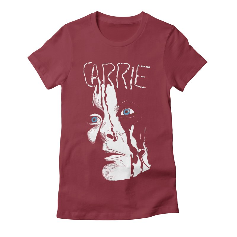 Carrie Women's Fitted T-Shirt by quadrin's Artist Shop