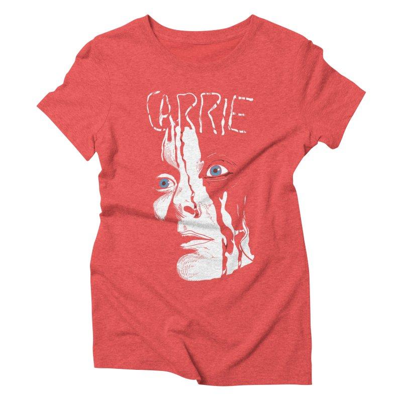 Carrie Women's Triblend T-Shirt by quadrin's Artist Shop