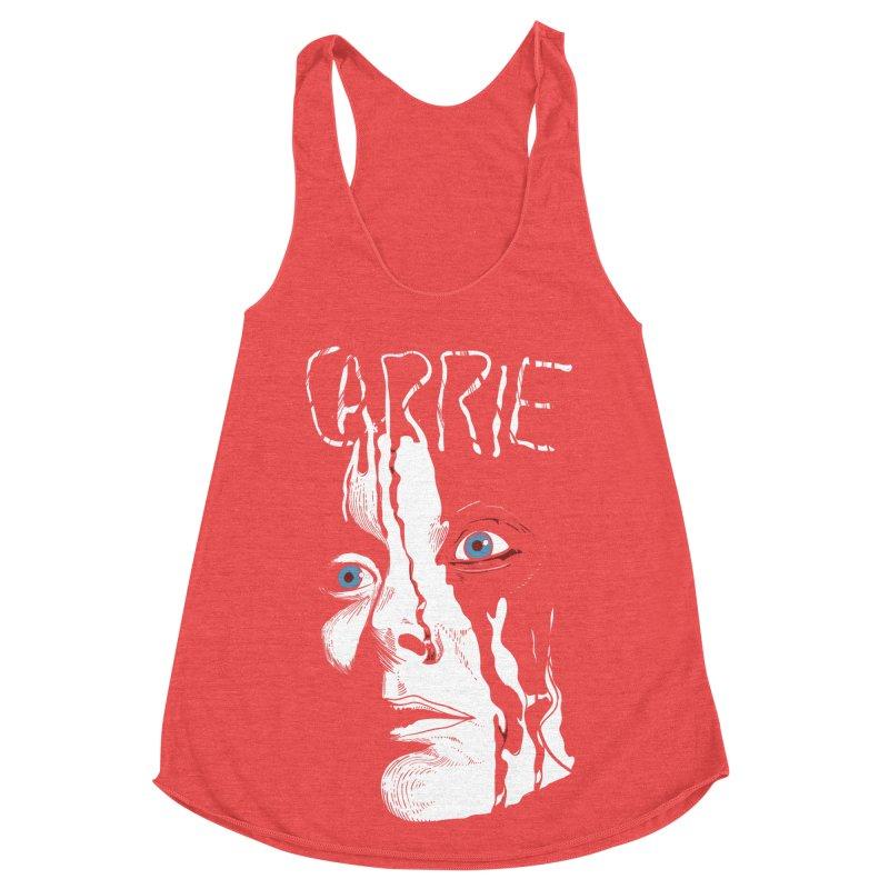 Carrie Women's Racerback Triblend Tank by quadrin's Artist Shop