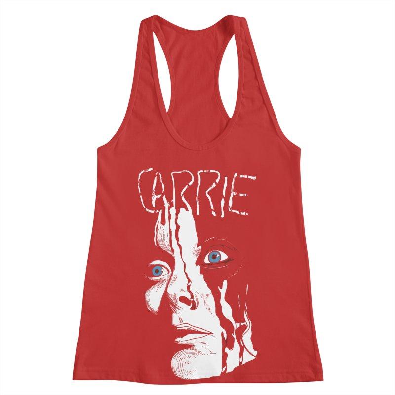 Carrie Women's Racerback Tank by quadrin's Artist Shop