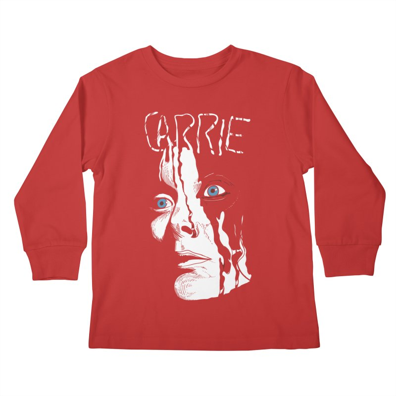 Carrie Kids Longsleeve T-Shirt by quadrin's Artist Shop