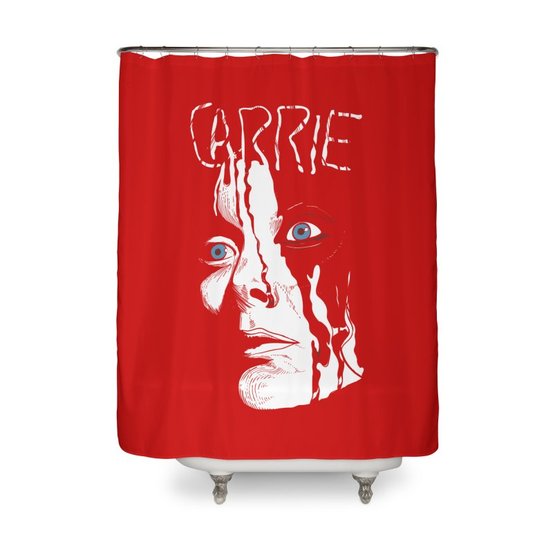 Carrie Home Shower Curtain by quadrin's Artist Shop
