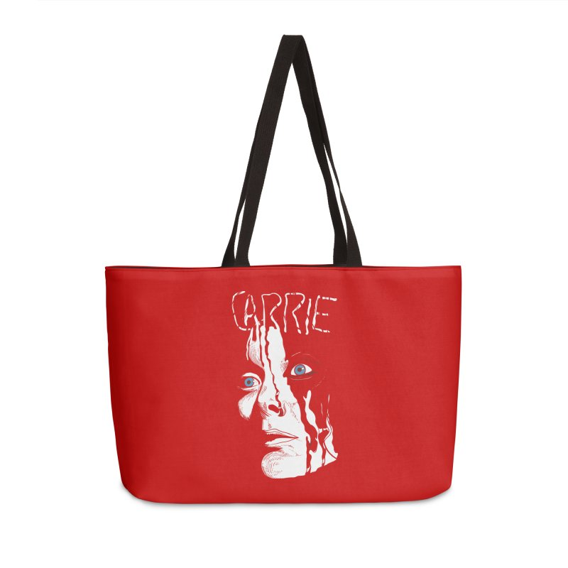 Carrie Accessories Weekender Bag Bag by quadrin's Artist Shop