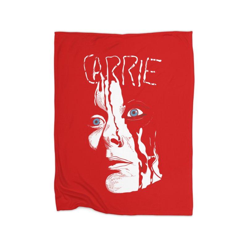 Carrie Home Fleece Blanket Blanket by quadrin's Artist Shop