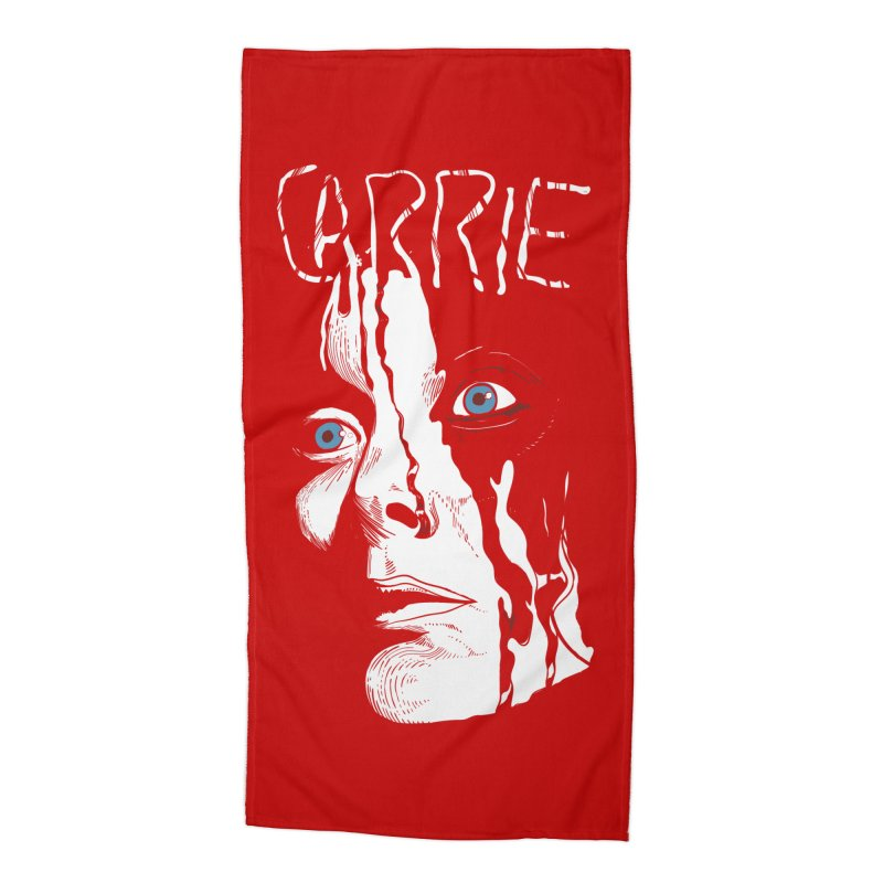 Carrie Accessories Beach Towel by quadrin's Artist Shop