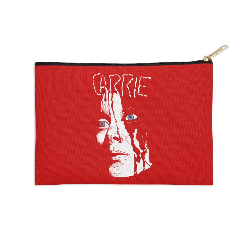 Carrie Accessories Zip Pouch by quadrin's Artist Shop