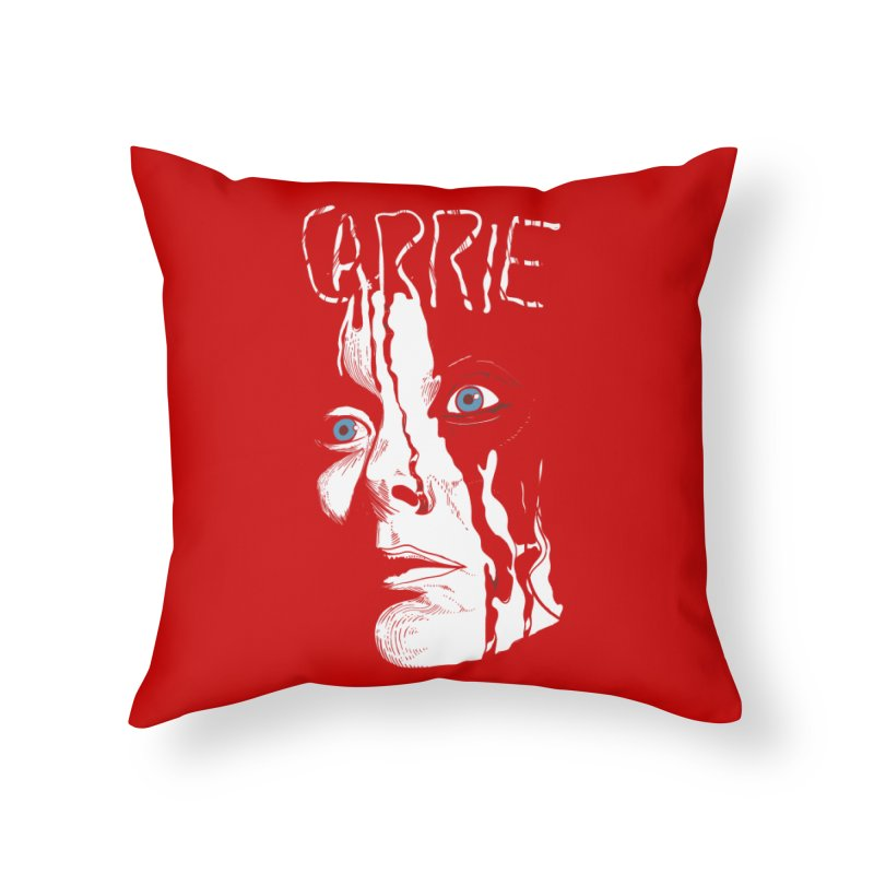 Carrie Home Throw Pillow by quadrin's Artist Shop