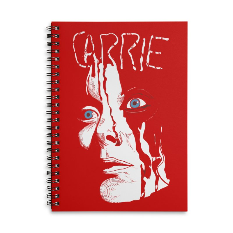 Carrie Accessories Lined Spiral Notebook by quadrin's Artist Shop