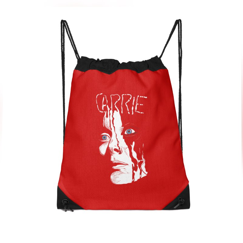 Carrie Accessories Drawstring Bag Bag by quadrin's Artist Shop