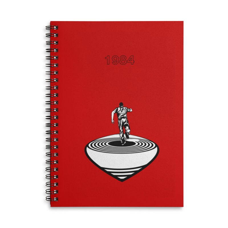 1984 Accessories Lined Spiral Notebook by quadrin's Artist Shop