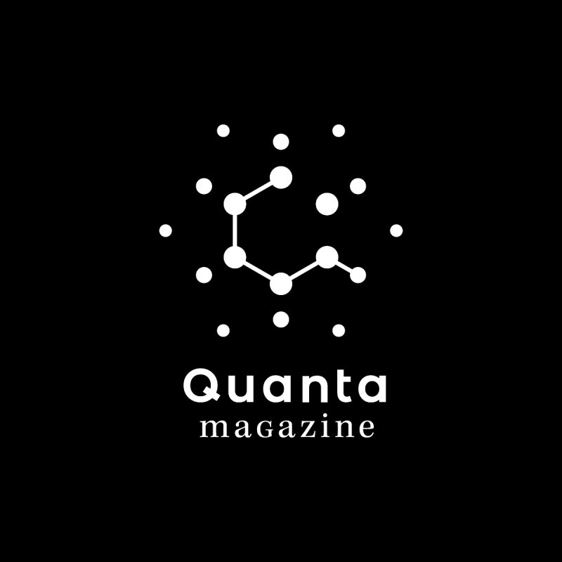 Performance (Men) - White Logo Men's T-Shirt by Quanta Magazine