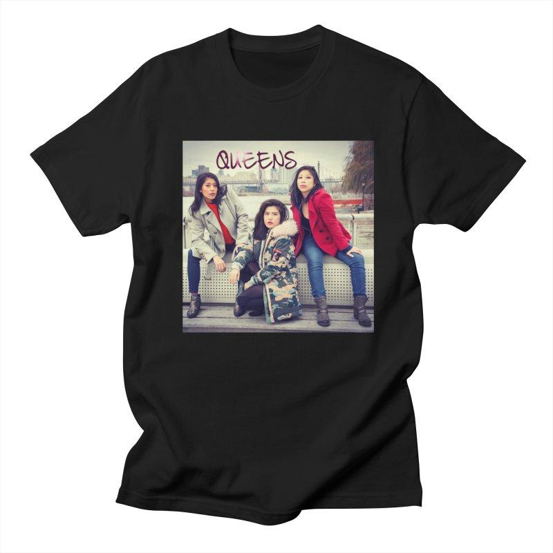 Queens Key Art in Women's Regular Unisex T-Shirt Black by Shop the Queens Series Store