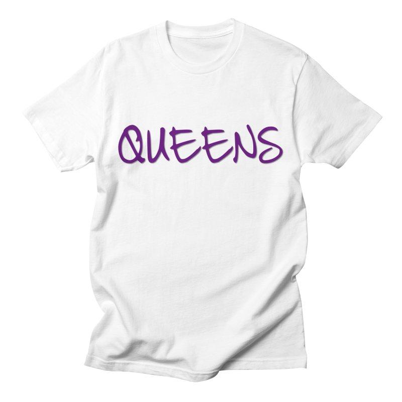 Queens Logo (purple) Men's T-Shirt by Shop the Queens Series Store