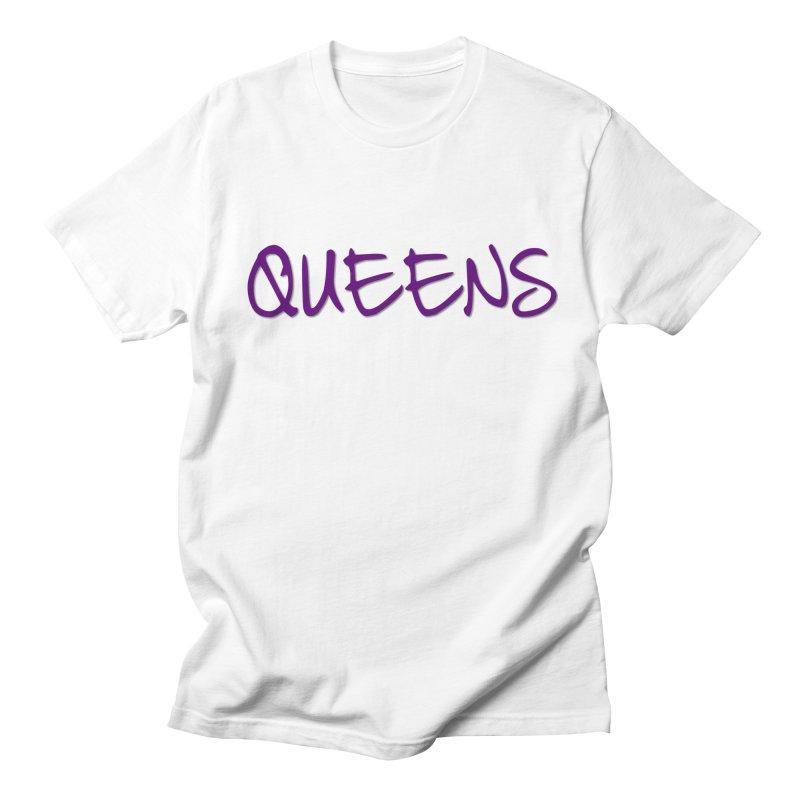 Queens Logo (purple) in Men's Regular T-Shirt White by Shop the Queens Series Store