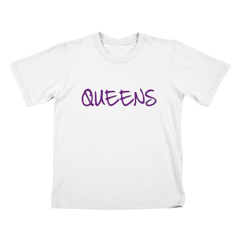 Queens Logo (purple) Kids T-Shirt by Shop the Queens Series Store