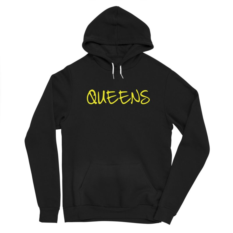 Queens Logo (Ylw) Men's Pullover Hoody by Shop the Queens Series Store