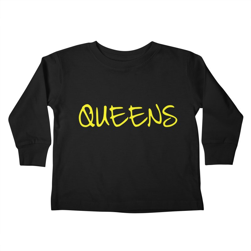 Queens Logo (Ylw) Kids Toddler Longsleeve T-Shirt by Shop the Queens Series Store