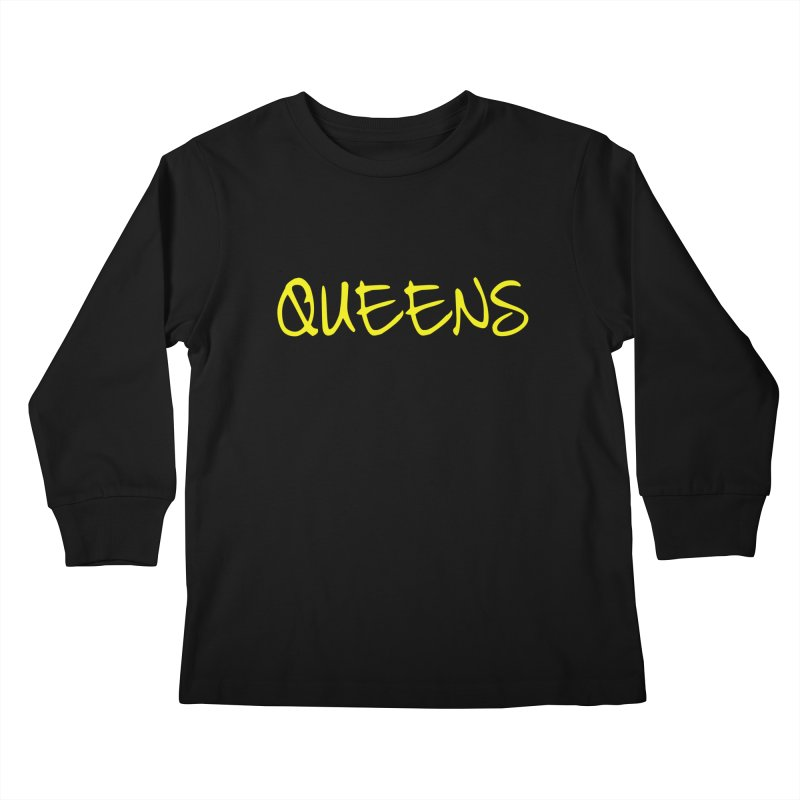 Queens Logo (Ylw) Kids Longsleeve T-Shirt by Shop the Queens Series Store