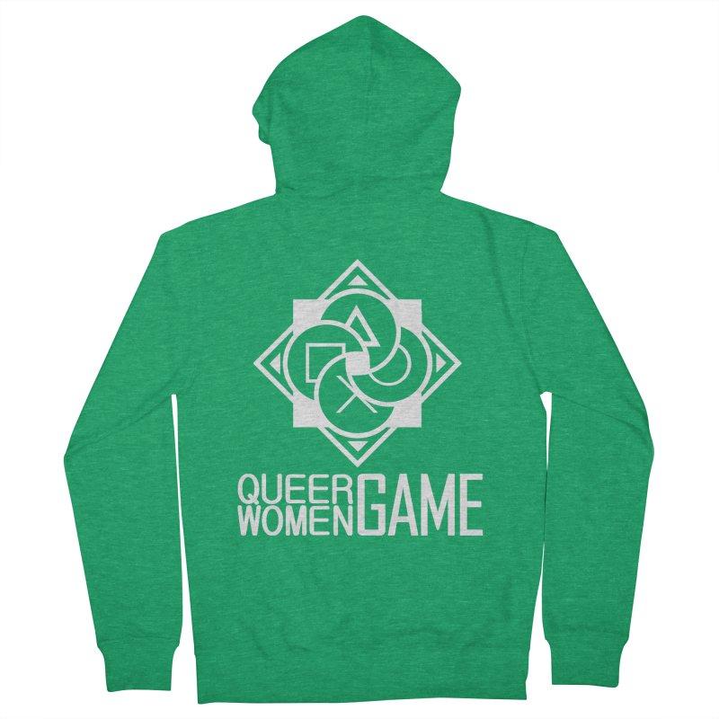 Logo & Text - Plain Men's Zip-Up Hoody by Queer Women Game Loot