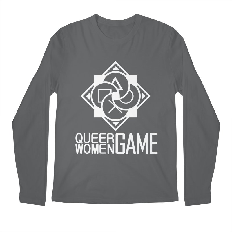 Logo & Text - Plain Men's Longsleeve T-Shirt by Queer Women Game Loot