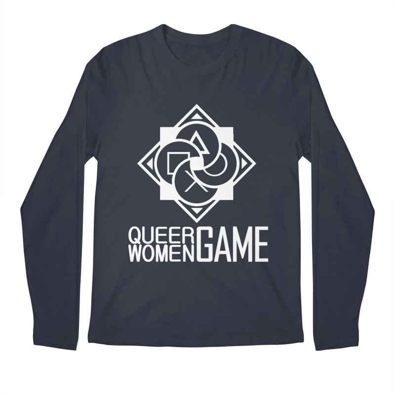 Logo & Text - Plain Men's Longsleeve T-Shirt by Queer Women Game Loot