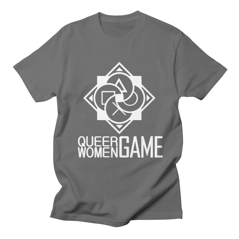 Logo & Text - Plain Men's T-Shirt by Queer Women Game Loot