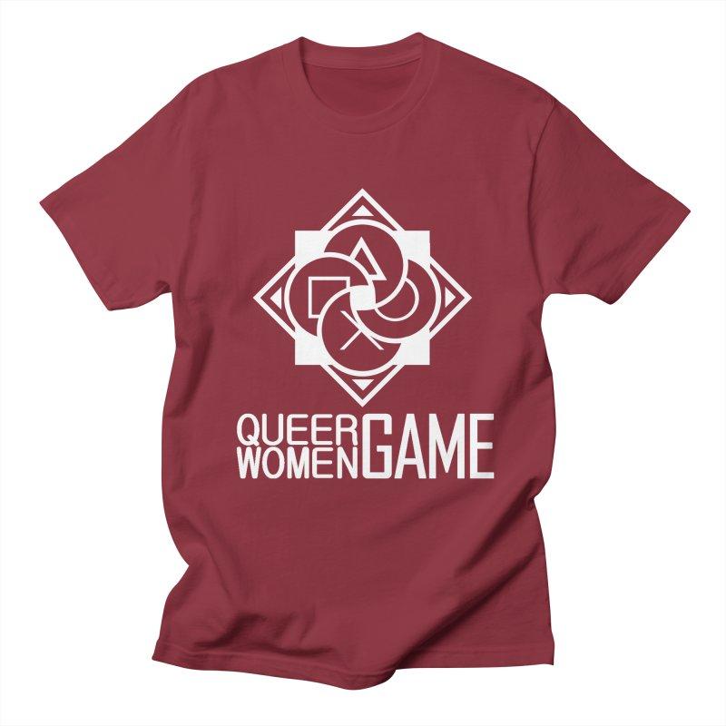 Logo & Text - Plain Men's T-Shirt by Queer Women Game Loot