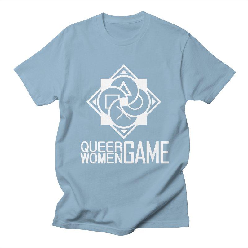 Logo & Text - Plain Men's Regular T-Shirt by Queer Women Game Loot