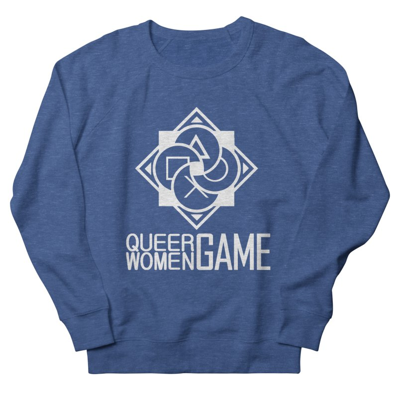Logo & Text - Plain Men's Sweatshirt by Queer Women Game Loot
