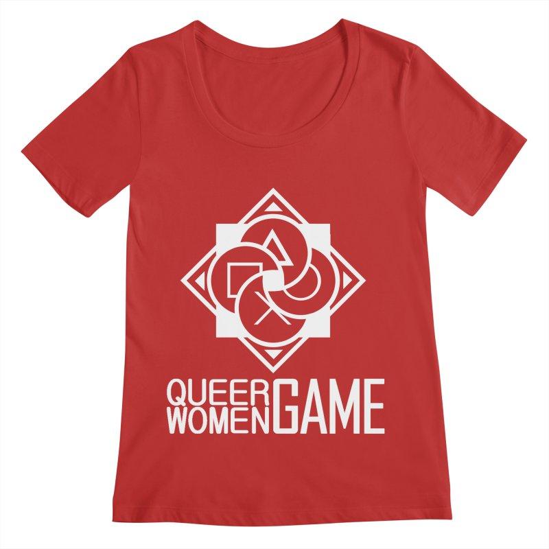 Logo & Text - Plain Women's Scoop Neck by Queer Women Game Loot