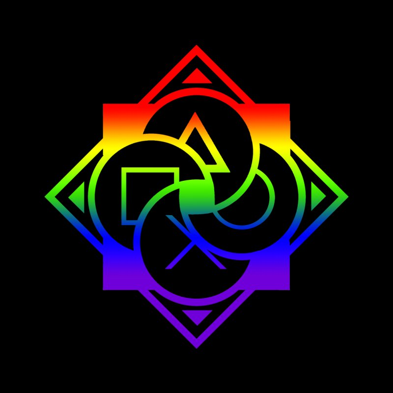 Logo - LGBT+ Pride Men's Tank by Queer Women Game Loot