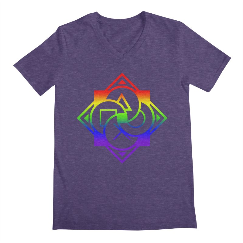 Logo - LGBT+ Pride Men's V-Neck by Queer Women Game Loot