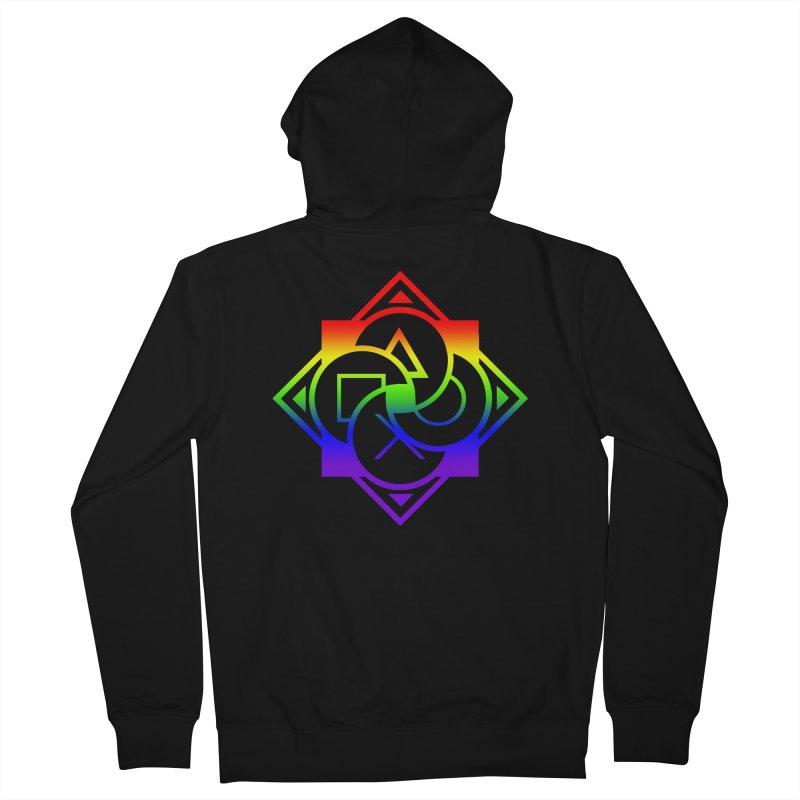 Logo - LGBT+ Pride Men's Zip-Up Hoody by Queer Women Game Loot