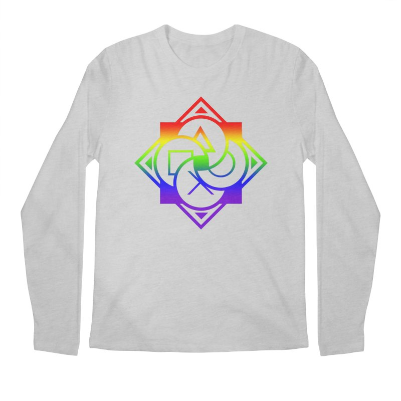 Logo - LGBT+ Pride Men's Longsleeve T-Shirt by Queer Women Game Loot