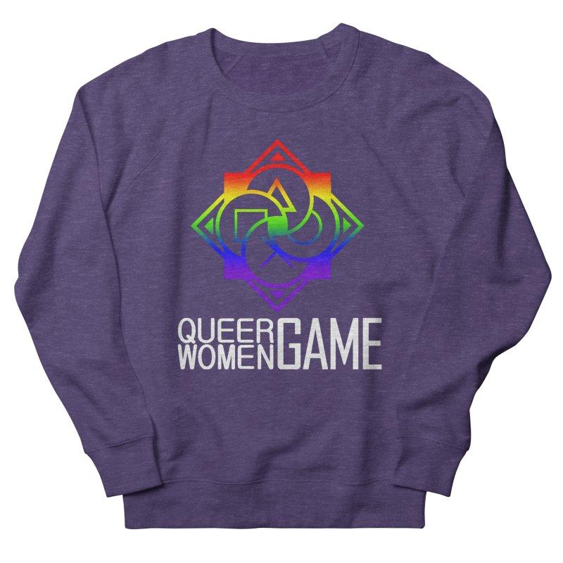 Logo & Text - LGBT+ Pride Men's Sweatshirt by Queer Women Game Loot