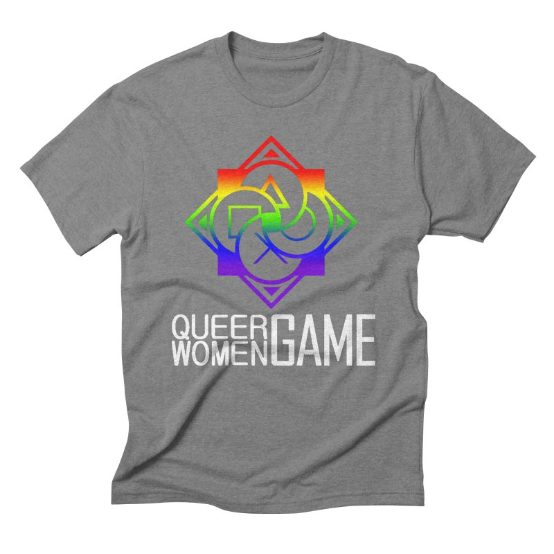 Logo & Text - LGBT+ Pride Men's T-Shirt by Queer Women Game Loot