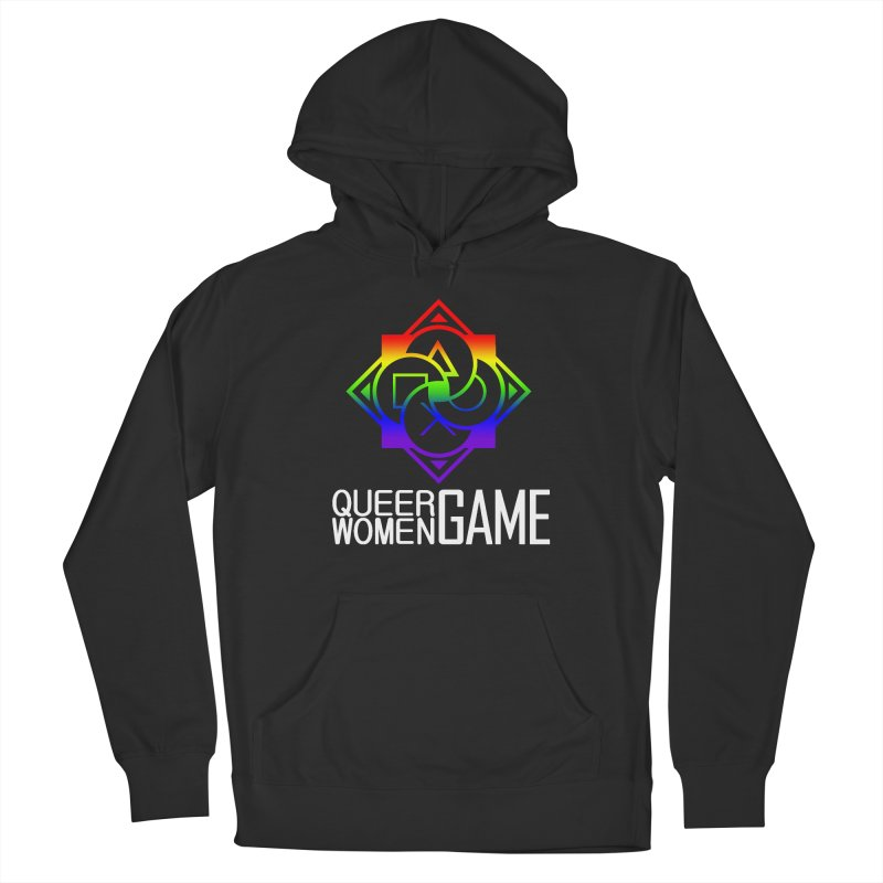 Logo & Text - LGBT+ Pride Men's Pullover Hoody by Queer Women Game Loot