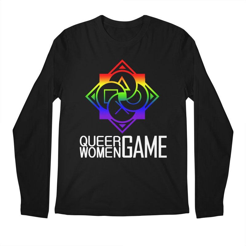 Logo & Text - LGBT+ Pride Men's Longsleeve T-Shirt by Queer Women Game Loot