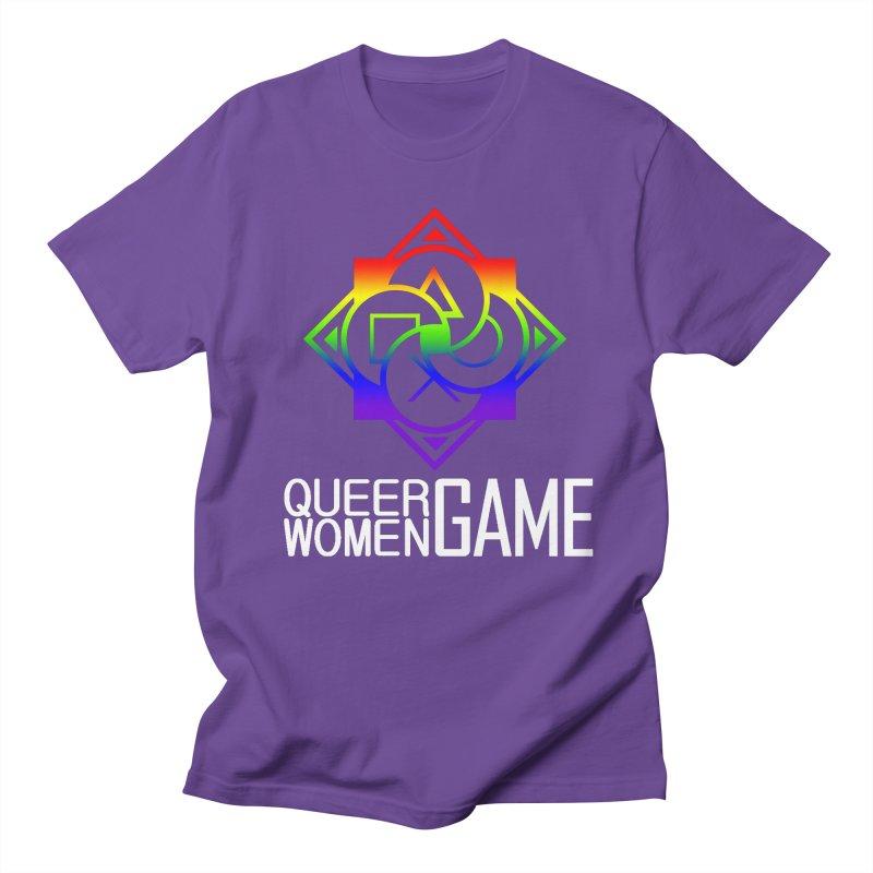 Logo & Text - LGBT+ Pride Men's Regular T-Shirt by Queer Women Game Loot