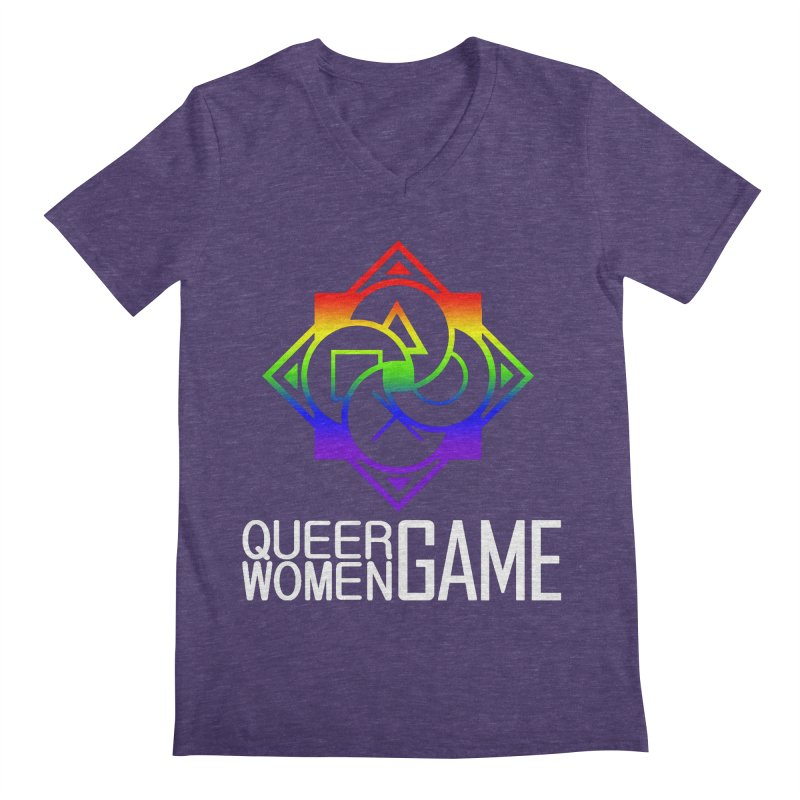 Logo & Text - LGBT+ Pride Men's V-Neck by Queer Women Game Loot