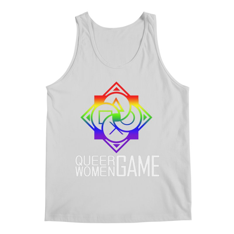 Logo & Text - LGBT+ Pride Men's Tank by Queer Women Game Loot