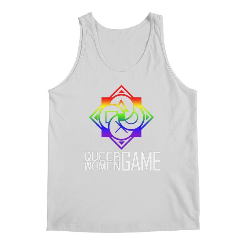 Logo & Text - LGBT+ Pride Men's Tank by Queer Women Game Loot
