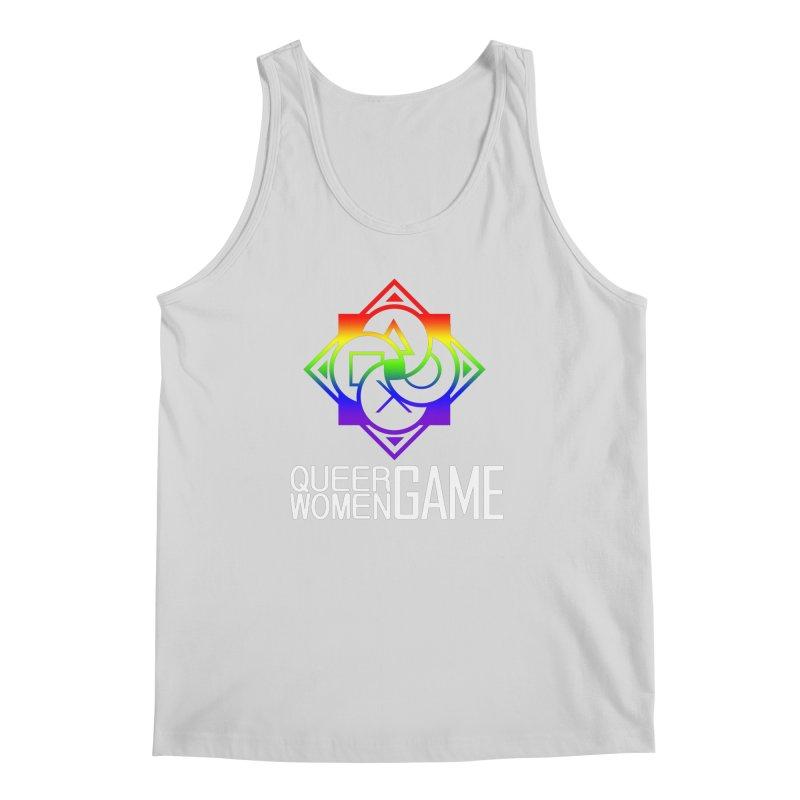 Logo & Text - LGBT+ Pride Men's Regular Tank by Queer Women Game Loot