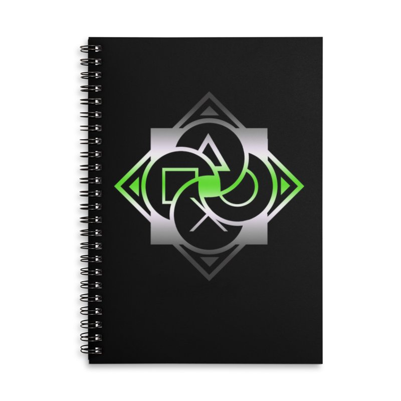Logo - Agender Pride Accessories Lined Spiral Notebook by Queer Women Game Loot