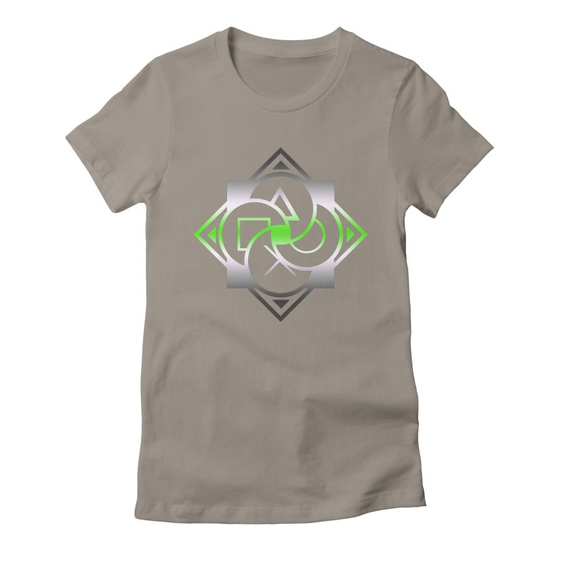 Logo - Agender Pride Women's Fitted T-Shirt by Queer Women Game Loot