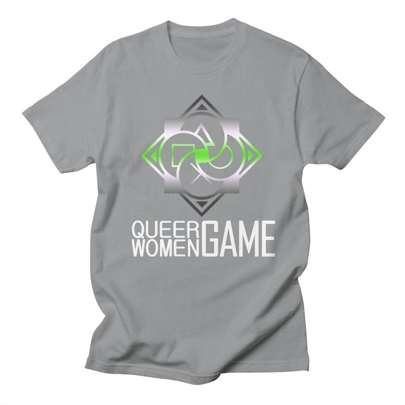 Logo & Text - Agender Pride Men's Regular T-Shirt by Queer Women Game Loot