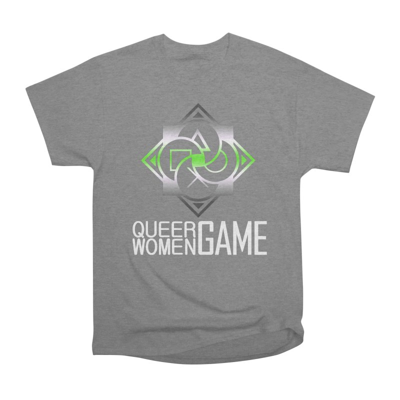 Logo & Text - Agender Pride Men's T-Shirt by Queer Women Game Loot