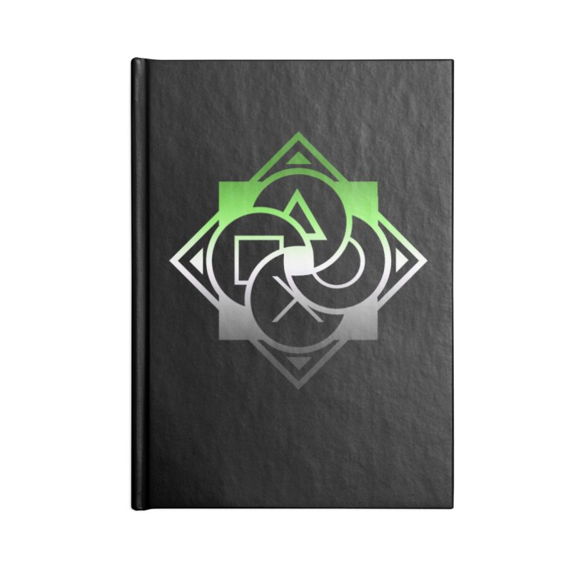Logo - Aromantic Pride Accessories Lined Journal Notebook by Queer Women Game Loot